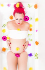 Milk bath photography with Toni 2