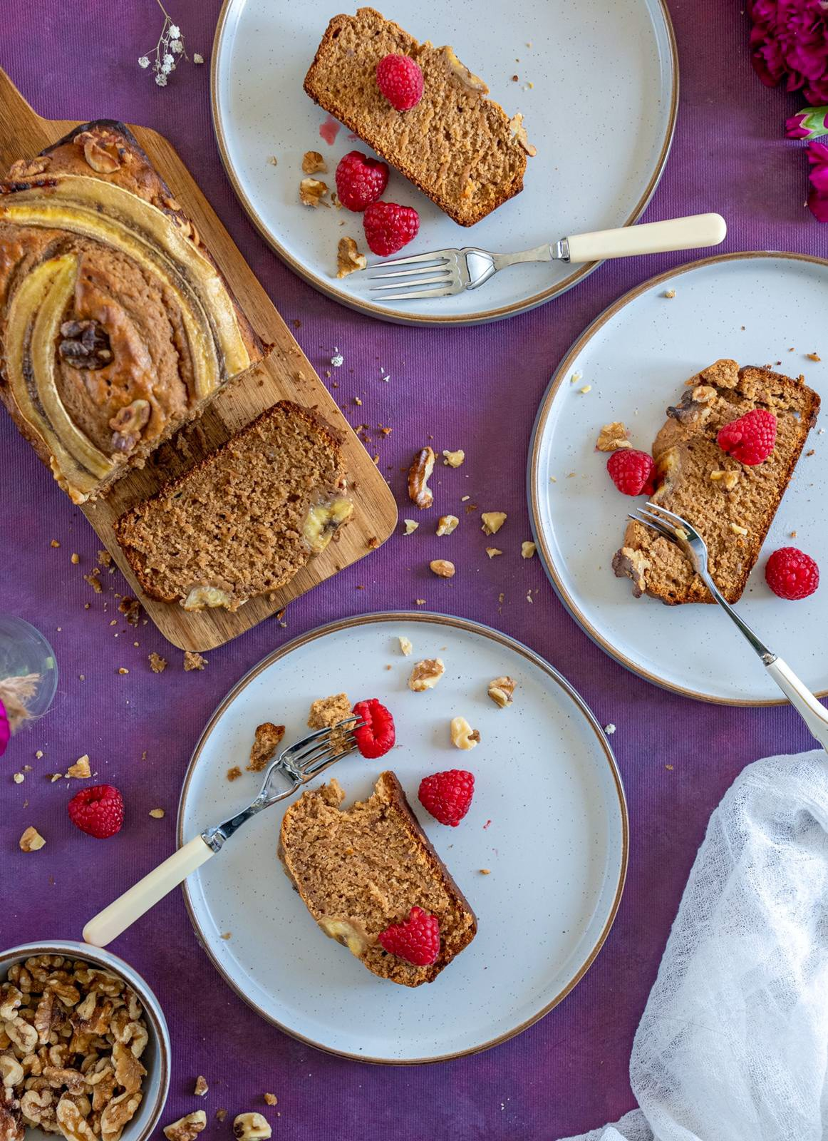 Food photographer Chelmsford, Essex - Banana Bread Food styling
