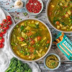 Food Recipe Development - Green Minestrone for Nakd Bars, London, UK, Essex